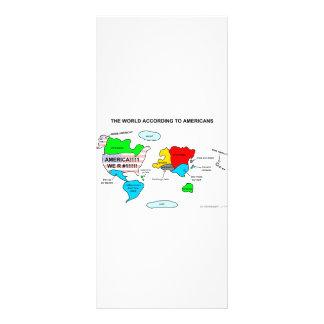 El mundo según americanos tarjeta publicitaria personalizada