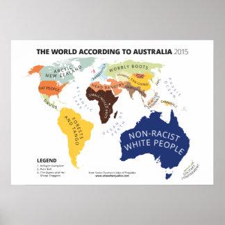 El mundo según Australia Póster