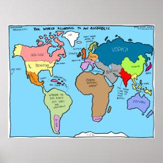 El mundo según un alcohólico póster