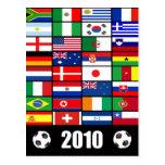 El mundo señala 2010 por medio de una bandera postal