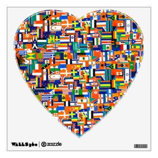 """El mundo señala"""" al pegatina de la pared por medio vinilo"""