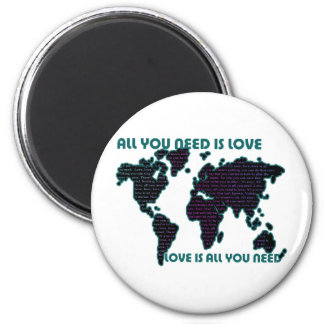 El mundo todo de Beatles que usted necesita es amo Imán Redondo 5 Cm