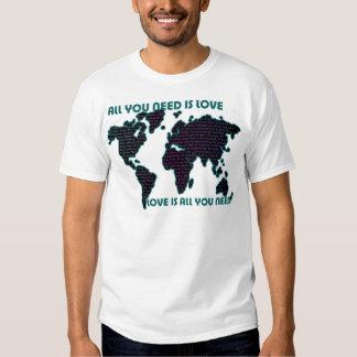 El mundo todo de Beatles que usted necesita es Camisas
