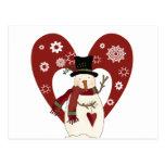 El muñeco de nieve ama las camisetas y los regalos tarjetas postales
