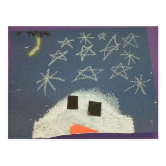 El muñeco de nieve de Tyler Tarjetas Postales
