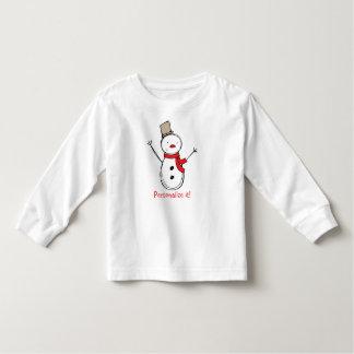 El muñeco de nieve del navidad personalizó la playera de bebé