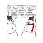 El muñeco de nieve fue a la Florida Postal