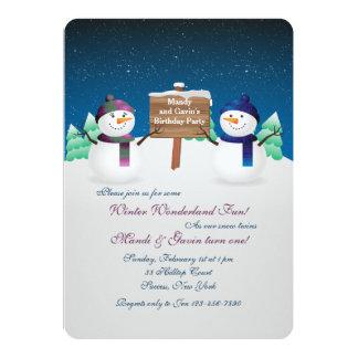 El muñeco de nieve hermana la invitación