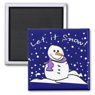 El muñeco de nieve lo dejó nevar imán