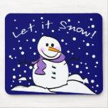 El muñeco de nieve lo dejó nevar Mousepad Tapete De Ratón
