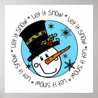 El muñeco de nieve lo dejó nevar posters