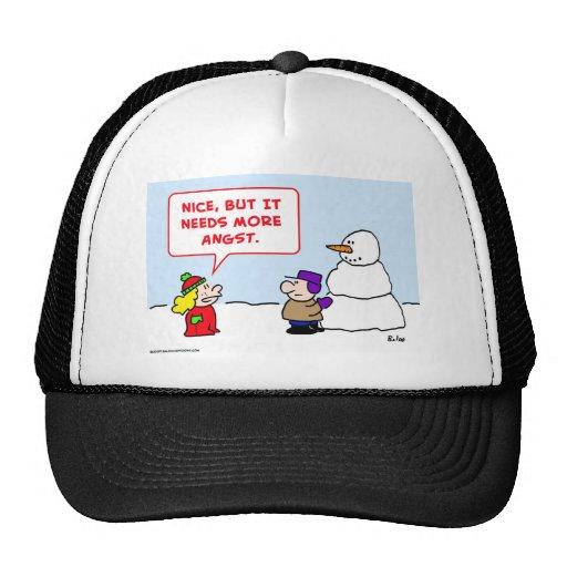 el muñeco de nieve necesita más angustia gorra