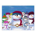 El muñeco de nieve y su ~ de la pandilla postales