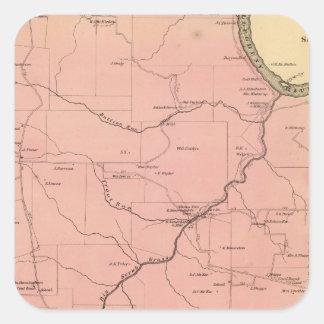 El municipio de Clinton Pegatinas Cuadradas