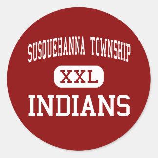 El municipio de Susquehanna - indios - alto - Etiqueta Redonda