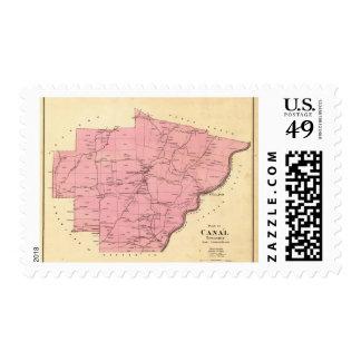 El municipio del canal sello postal