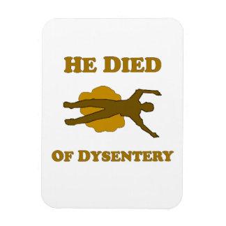 Él murió del imán de la disentería