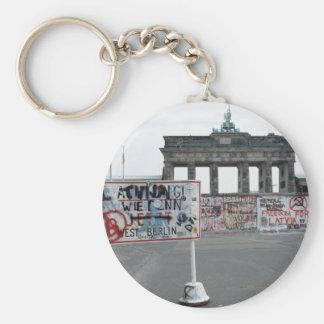 El muro de Berlín Llavero Redondo Tipo Pin