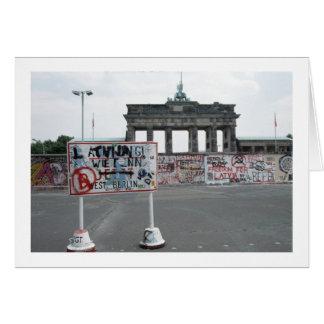 El muro de Berlín Tarjeta De Felicitación