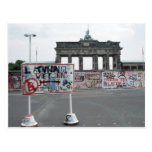El muro de Berlín Tarjeta Postal