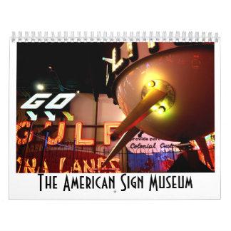 El museo americano de la muestra calendario de pared