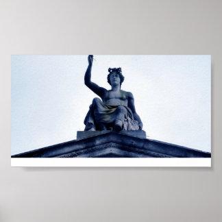 El museo de arte y la arqueología de Ashmolean Poster