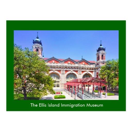 El museo de la inmigración de la isla de Ellis Postal