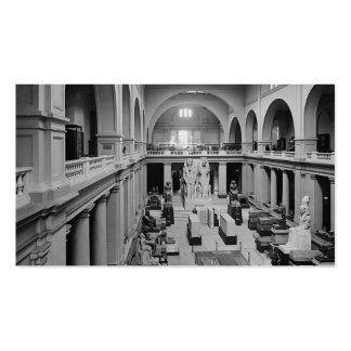 El museo egipcio. Interior de Pasillo principal Tarjetas De Visita