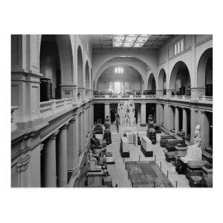 El museo egipcio. Interior de Pasillo principal Tarjeta Postal