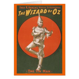 El Musical de mago de Oz - el hombre de la lata Tarjeta De Felicitación