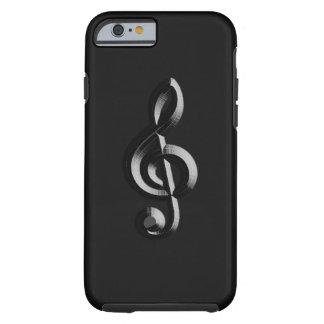 El musical del piano graba en relieve funda resistente iPhone 6