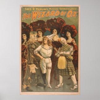El Musical del vintage de mago de Oz Posters