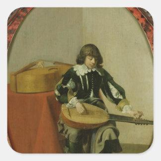 El músico joven colcomanias cuadradases