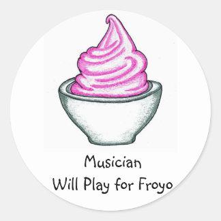 El músico jugará para el pegatina de Froyo