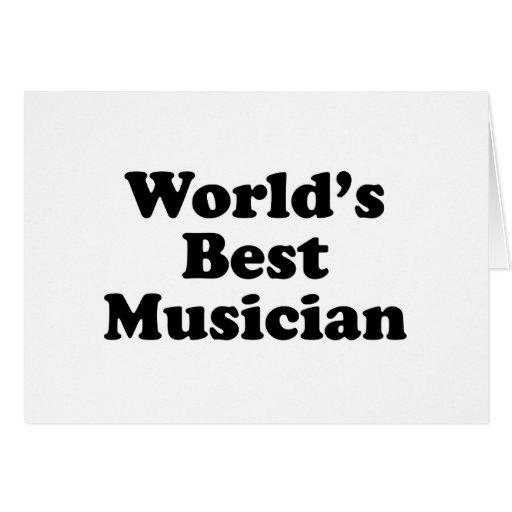 El músico peor del mundo tarjeta de felicitación