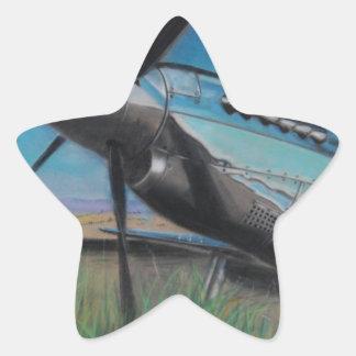 El mustango pegatina en forma de estrella