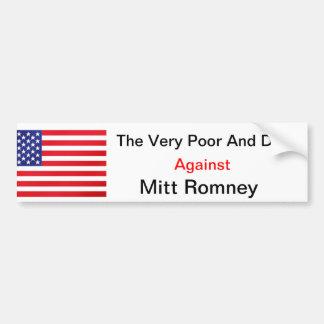 El muy pobre y perros contra Mitt Romney Pegatina Para Auto