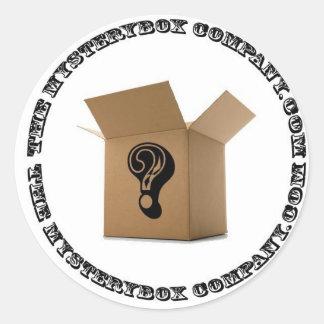El Mystery Box Company redonda Pegatina Redonda