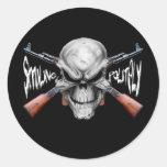 El n del cráneo dispara contra al pegatina