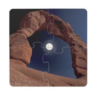 El NA, los E.E.U.U., Utah, arquea el parque nacion Posavasos De Puzzle