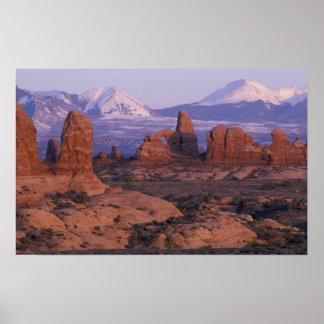 El NA, los E.E.U.U., Utah, arquea el parque nacion Póster