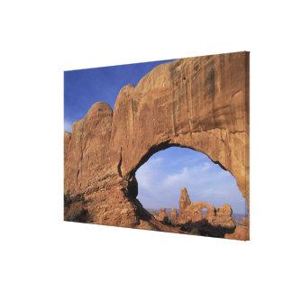 El NA, Utah, arquea el parque nacional. Arco doble Impresión En Lona