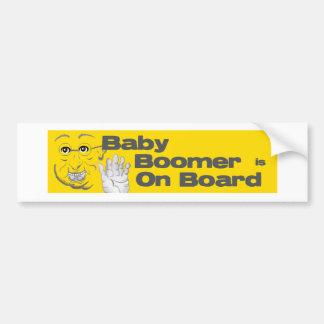 El nacido en el baby boom está a bordo pegatina pa pegatina de parachoque