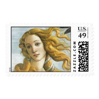 El nacimiento de Botticelli de Venus Sello Postal