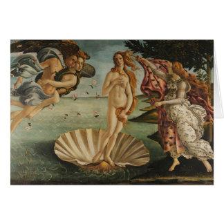 El nacimiento de Botticelli de Venus Tarjetón
