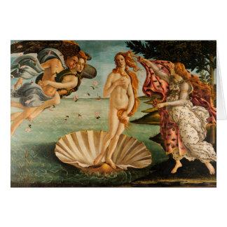 El nacimiento de Botticelli de Venus Tarjeta De Felicitación