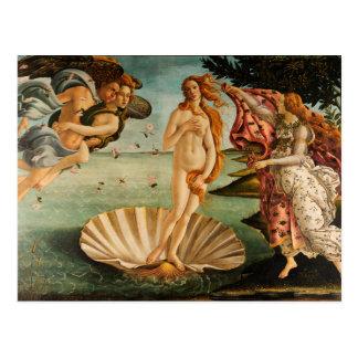 El nacimiento de Botticelli de Venus Postales