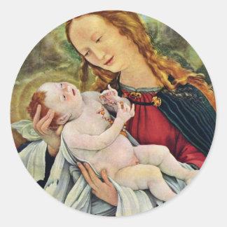 El nacimiento de Cristo de Grünewald Mathis Gothar Pegatinas Redondas