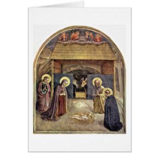 El nacimiento de Cristo por Fra Angelico Tarjeta De Felicitación