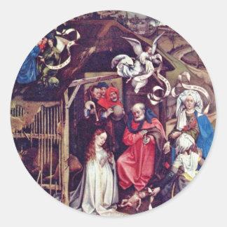El nacimiento de Cristo por Robert Campin la me Pegatinas
